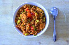 Yeni Nesil Çay Saati: Kinoa Kısır Tarifi Turkish Recipes, Raw Food Recipes, Ethnic Recipes, Food Categories, Fried Rice, Quinoa, Chili, Yummy Food, Delicious Recipes