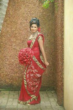 Bride Portrait Homecoming Saree Robes Hair Beauty Wedding Dresses Sari Tunics Robe