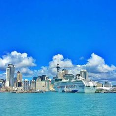 Auckland Harbour by Most Beautiful, Beautiful Places, Long White Cloud, Auckland, New Zealand, New York Skyline, Traveling, Australia, Clouds