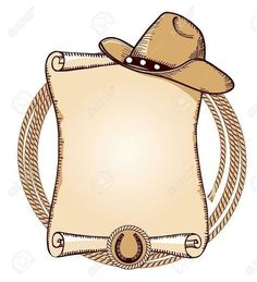Cowboy hat and lasso.Vector American background for text Illustration , Tema Cowboy, Cowboy And Cowgirl, Cowboy Theme Party, Horse Party, Horse Birthday Parties, Cowboy Birthday Party, Cowboy Baby Shower, Baby Boy Shower, Wild West Party