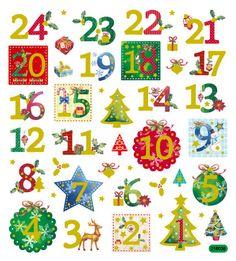 Advent Calendar Sticker  • Glitter Advent Calendar Sticker • Christmas Packaging, Gift Wrap, Favors, Holidays & Stocking Stuffers (SK1287)