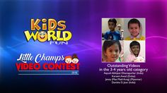 Outstanding Videos in the years old category of the Little Champs Video Contest 2016 organized by KidsWorldFun. Aayush Abhijeet Dhamapurkar (India) Kareem Awad (Dubai) Jenny (Mae Madi Aung) (Myanmar) Danisha D. Video Contest, 4 Year Olds, 4 Years, Projects For Kids, Champs, Dubai, India, Organization, Videos