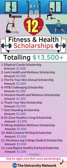 12 Fitness & Health Scholarships Worth $13,500!