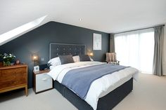 If you're fortunate to have an attic in your house, when you haven't converted it already, you might be passing up prime real estate for a master bedroom. Attic Master Bedroom, Attic Bedroom Designs, Attic Bedrooms, Bedroom With Ensuite, Bedroom Loft, Home Bedroom, Bedroom Ideas, Attic Conversion Master Suite, Loft Conversion Plans