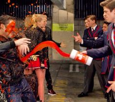 The Warblers on Glee - Sebastian Smythe and Blaine Anderson