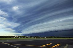 Shelf cloud seen from Sunshine Coast Airport, Queensland.
