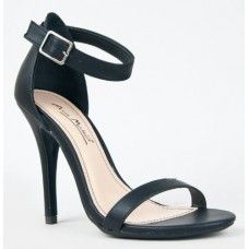 Bamboo Women`S Pumps Shoes Sandals Open Toe High Heels, Black Strappy Heels, Studded Heels, High Heels Stilettos, Black Shoes, Pumps, Pump Shoes, Shoes Heels, Ankle Strap Sandals