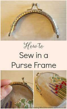 Using bits of hardware is a great way to get a professional looking finish to your handmade bags and purses. But it can be tricky knowing where to start. This tutorial shows how to sew in a purse frame, step by step and with plenty of pictures. Coin Purse Pattern, Coin Purse Tutorial, Purse Patterns, Sewing Patterns, Tote Pattern, Pouch Tutorial, Sewing Hacks, Sewing Projects, Little Presents