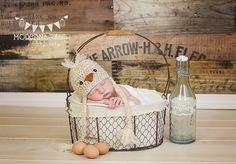 Crochet Baby Chick Hat - Newborn Photography Prop via Etsy
