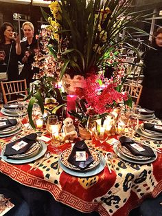 Stylish Entertaining at the NYBG Orchid Dinner Danielle Rollins