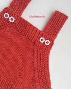 Hobi Terapidir: Örgü bebek jilesi (6ay 1 yaş arası) Knitted Baby Clothes, Crochet Clothes, Diy Clothes, Crochet For Kids, Crochet Baby, Knit Crochet, Knitting Stiches, Baby Knitting Patterns, Baby Ruth