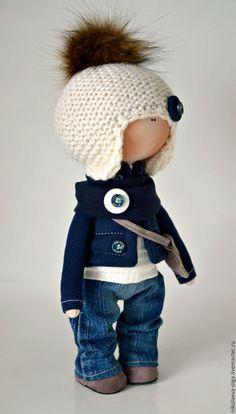 Купить Интерьерная текстильная кукла (мальчик) - кукла ручной работы, кукла интерьерная, кукла текстильная