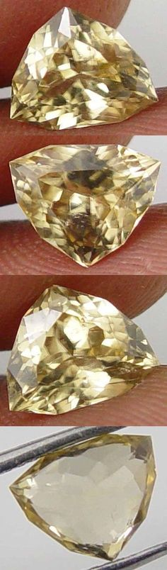 Zircon 10286: Super Cut Unique Polygon Trillion 2.55Cts Earth Mined Yellow Zircon Gem 11060554 BUY IT NOW ONLY: $80.0