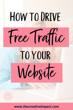 Want to get more blog traffic for free? In this video, I am giving you 10 proven ways to drive free traffic to your website. #blog #traffic #website Get More Followers, Your Website, Business Money, Instagram Tips, Social Media Tips, Saving Money, Budgeting, Web Design, How To Get