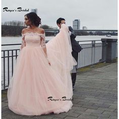 Princess Pink Long Sleeve Prom Dresses A-line Tulle Formal Puffy Dress for Graduation Vestidos de Festa 2017 Evening Gown