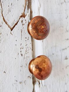 These copper handles to dress up basic furniture