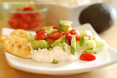 Avocado Cottage Cheese Snack