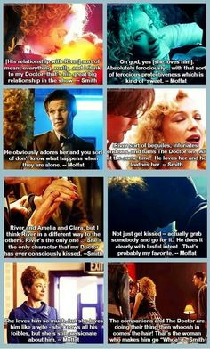 Matt Smith and Steven Moffat about Eleven and River