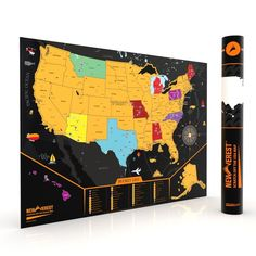 Designed like a big lotto ticket, the US Scratch Map is an ...