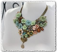 TUTORIAL // Vintage Repurposed Jewelry Statement by lagoadesigns