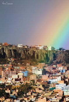 La Paz, Bolivia | LadeRainbow by Nathan Szwerdszarf on http://500px.com/nathansz