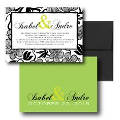 Green Wedding Invitations,