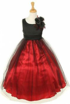 Visit our online store to find a massive range of flower girl dresses, Communion dresses, & pageant dresses in premium quality. Red Flower Girl Dresses, Girls Dresses, Formal Dresses, Flower Girls, Satin Tulle, Tulle Dress, Red Wedding, Wedding Ideas, Wedding Stuff