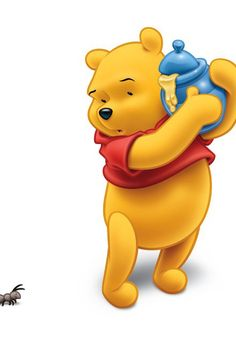 Winnie the Pooh with he's jar of honey