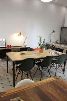 :: Table industrielle, 190x90x74cm, 890€, Atelier 159 ::