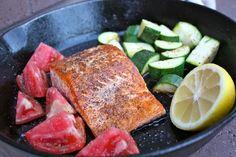 Cast Iron Pan Seared Salmon