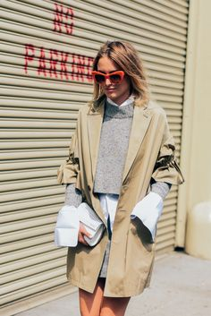 Beige Grey and White | NYFW | Tommy Ton