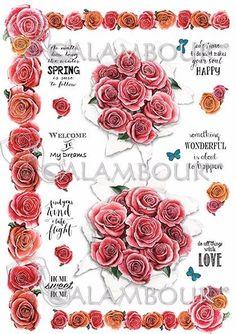 DGR 296   #decoupage #farfalle #hobby #flowers #cartadiriso #carta #ricepaper #craft #calambour #handmade #decoration #roses #phrases
