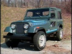 """MotorWeek   Retro Review: '81 AMC Jeep CJ-7:: """"Whether it's the familiar grinding sound (@1:56)... or bringing your big boy pants (@3:03)...or trouble prone items (@3:34)... or performance that compares to slower passenger cars (@3:48)...or the """"fair"""" acceleration (@4:01)...or the outstanding mpg - 18/27 (@5:30) We love ours..."""""""