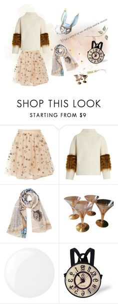 """i'm late"" by create-494 ❤ liked on Polyvore featuring Valentino, Saks Potts, Masquerade, Dorothy Thorpe and Essie"