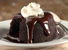 Our Gourmet Recipes: Molten Chocolate Lava Cake Choco Lava Cake Recipe, Lava Cake Recipes, Chocolate Lava Cake, Decadent Chocolate, Best Chocolate, Chocolate Recipes, Dessert Recipes, Baking Chocolate, Delicious Chocolate