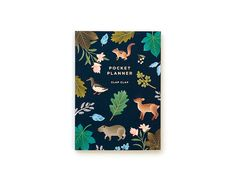 Botanical Pocket Planner Navy by clapclapdesign on Etsy