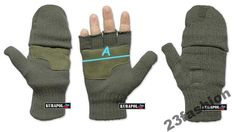 NEW Knitted Polar Underlay Gloves Mens Military Green Winter Hunting Fishing XL