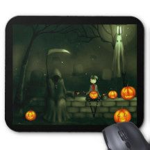 Grim Reaper Halloween Mousepads