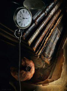 #pocket #watch #books #clock
