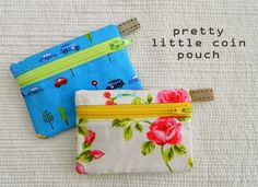 s.o.t.a.k handmade: pretty little coin pouch {a tutorial} Make for Jess?