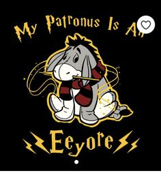 Harry Potter / Winnie the Pooh crossover: My Patronus is an Eeyore! This is the funniest thing, made from two of the best things! Cute Winnie The Pooh, Winnie The Pooh Quotes, Winnie The Pooh Friends, Eeyore Pictures, Disney Pictures, Disney Sidekicks, Disney Pixar, Disney Time, Disney Magic