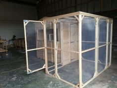 The 8x5x6ft Walk In Run part of a 7x5ft rabbit shed.