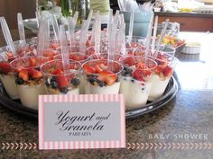 Image result for small individual yogurt parfaits for shower