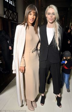 Model pals: Alessandra caught up with her very glam model friend Coco Rocha...