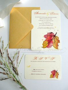 Fall Leaf Invitation