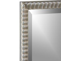 Silver Ripple Rectangular Wall Mirror  | Crate and Barrel