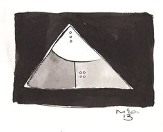 Pyramidas  Ink Drawing on Paper by mellonfineart on Etsy, $50.00