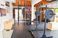 Cars? What cars? - All out garage gym #committed