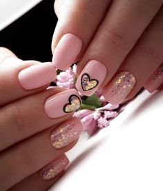 and Hottest Matte Nail Art Designs Ideas 2019 Nägel Matte Nail Art, Cute Acrylic Nails, Nail Nail, Pink Nails, My Nails, Heart Nails, Pretty Nail Art, Dream Nails, Nagel Gel