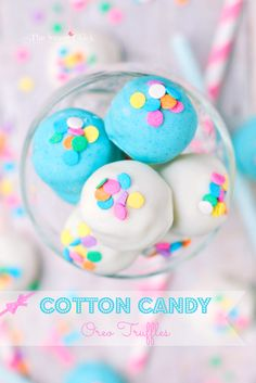 Cotton Candy Oreo Truffles by The Sweet Chick